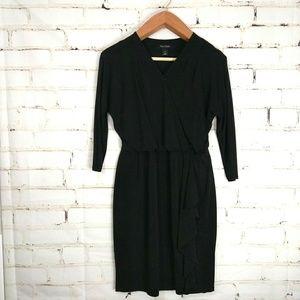 WHITE HOUSE BLACK MARKET ◾ Faux Wrap Midi Dress